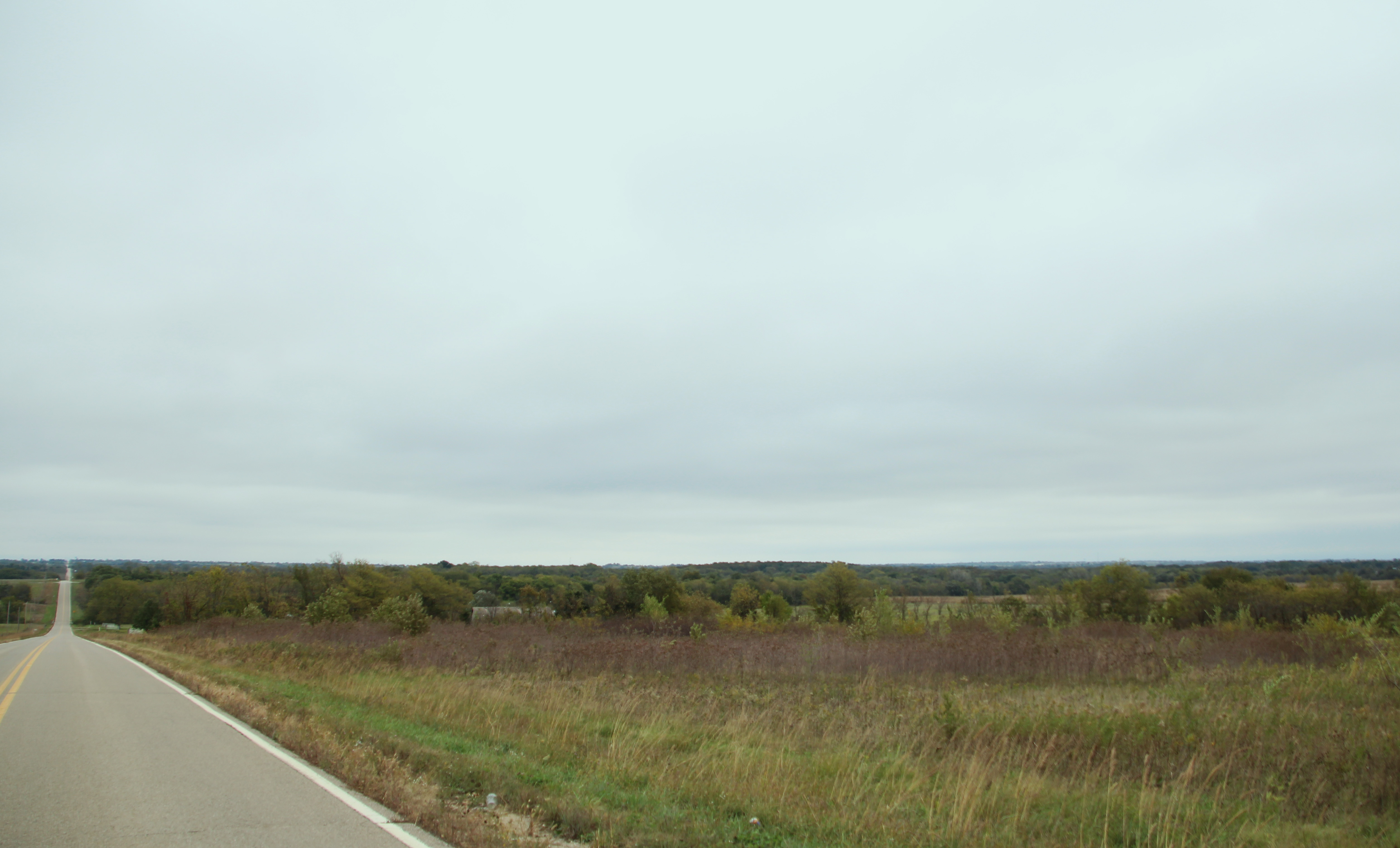 The western horizon of the Prairie Band of Potawatomi Nation reservation.
