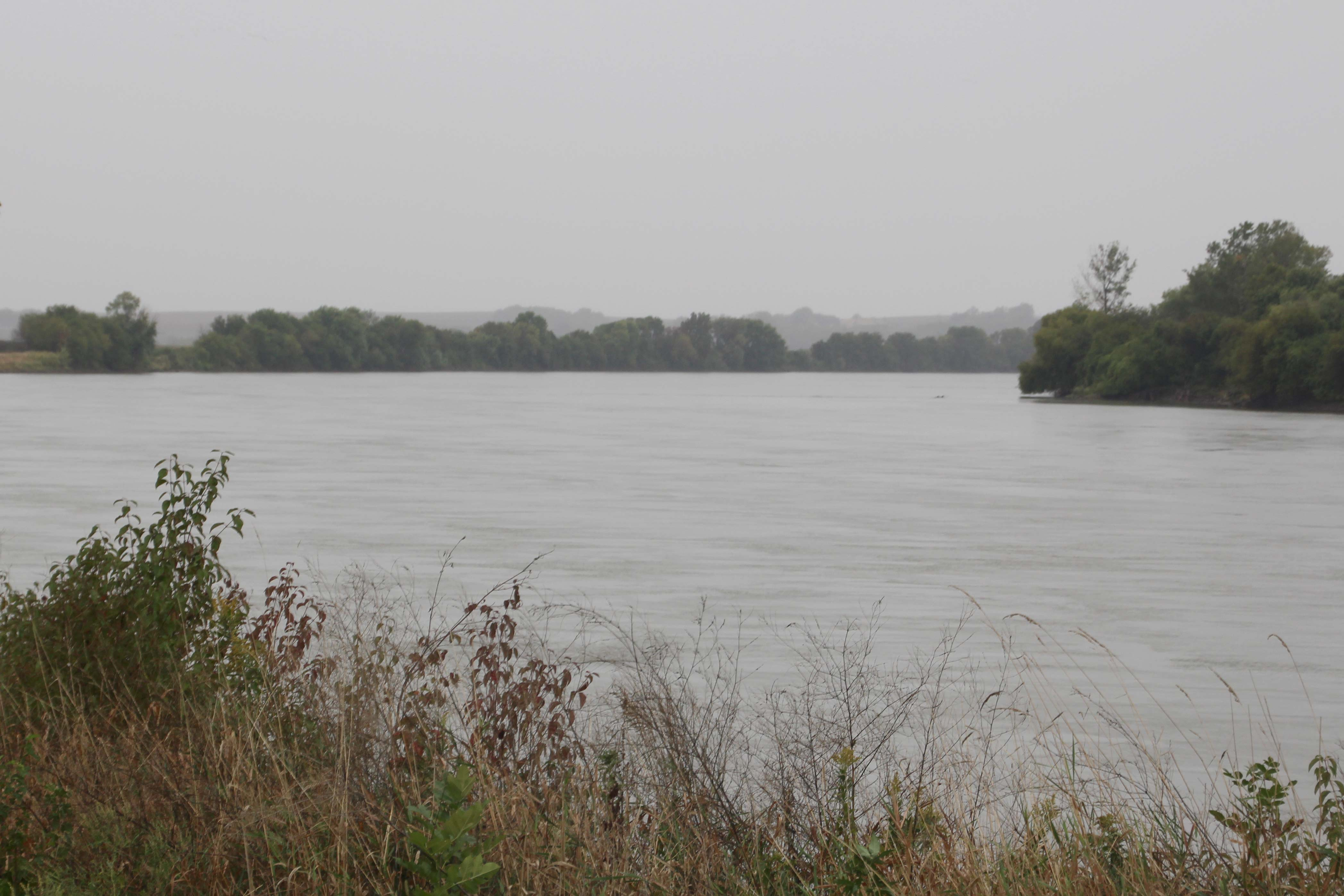The Missouri River on the Iowa Tribe's reservation.